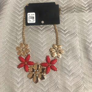 NY&Co NWT Necklace  Gold with orange
